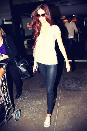 Katherine Webb arriving at LAX airport