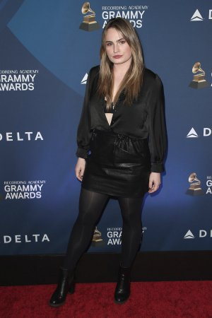 Kathryn Gallagher attends Delta Air Line Pre-Grammys party