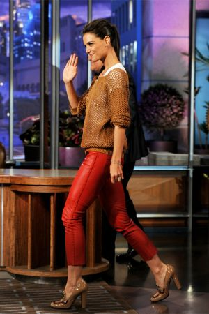 "Katie Holmes appears on ""The Tonight Show With Jay Leno"""