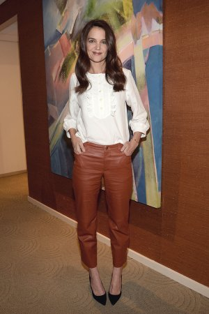 Katie Holmes attends Satellite Media Tour to promote her REELZ Channel mini series