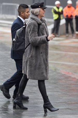 Katie McGlynn arrives at BBC Breakfast Studios