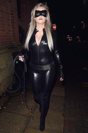 Katie McGlynn attends a Halloween Party