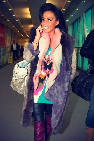Katie Price at Heathrow Airport