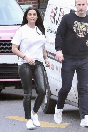 Katie Price out in London