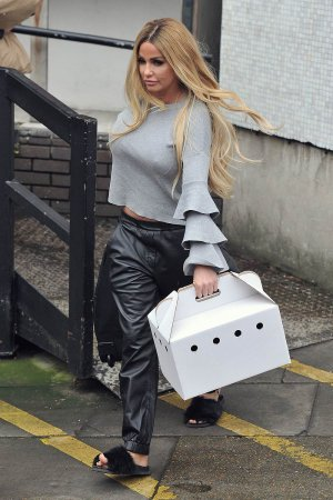 Katie Price seen at the ITV Studios after the Loose Women show
