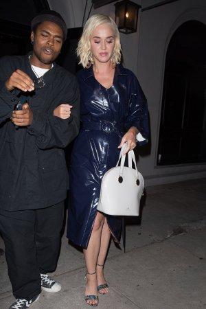 Katy Perry is spotted leaving Craig's restaurant