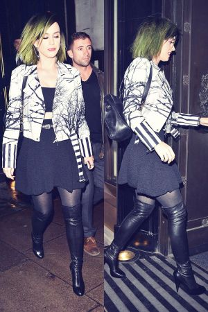 Katy Perry night out at The Wolseley restaurant