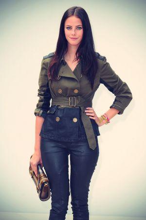 Kaya Scodelario at Burberry Spring/Summer 2012 Fashion Show