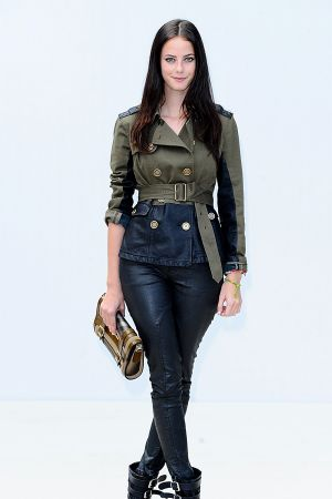Kaya Scodelario Burberry Prorsum S/S 2012 Show during London Fashion Week