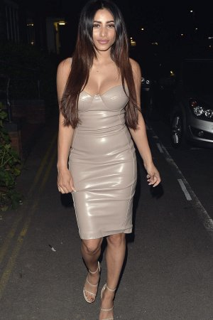 Kayleigh Morris arriving at the Mayfair Hotel