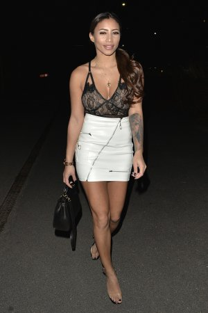 Kayleigh Morris seen arriving at Sketch Mayfair