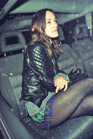 Keira Knightley leaving the Groucho Club