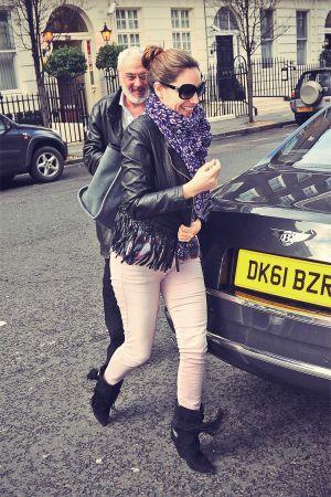 Kelly Brook arriving home in London