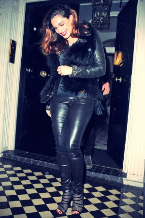 Kelly Brook heading for a night out with friends