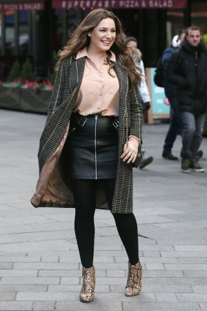 Kelly Brook seen at Heart Radio studios