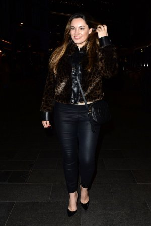 Kelly Brook Seen Leaving Global Radio