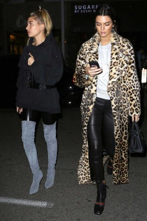 Kendall Jenner and Hailey Baldwin hanging out