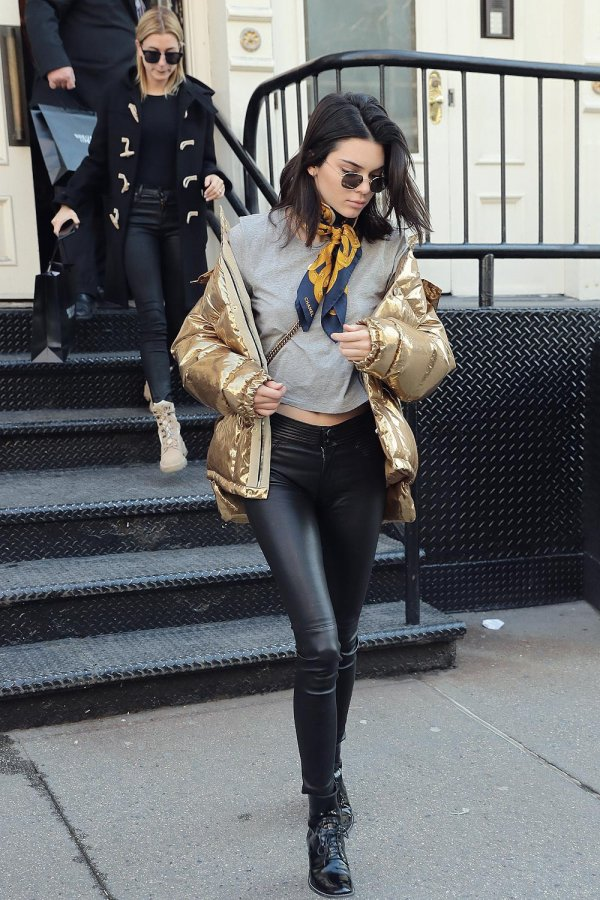 Kendall Jenner and Hailey Baldwin out and about in NYC