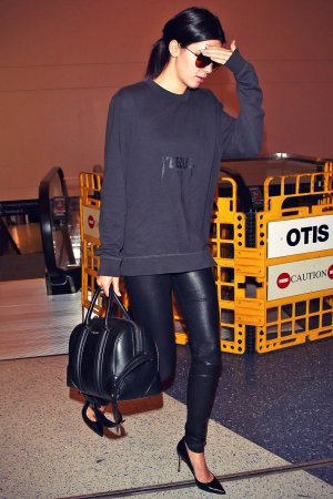 Kendall Jenner arrives at LAX Airport