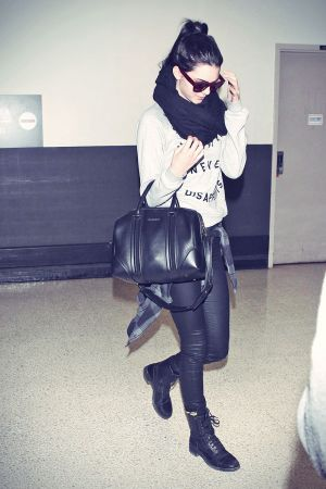 Kendall Jenner arriving at LAX