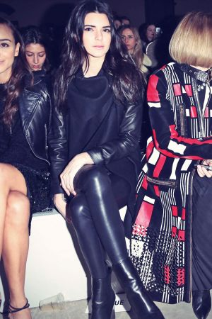 Kendall Jenner at the Topshop Unique show at LFW