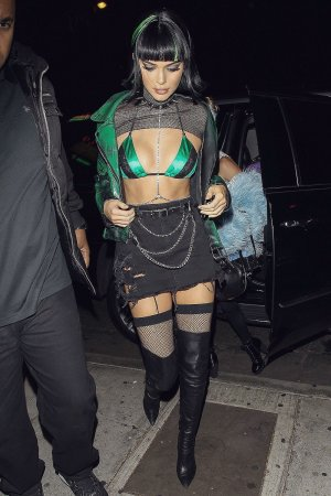 Kendall Jenner attends a Halloween party