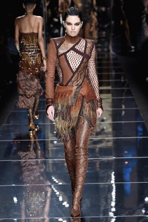 Kendall Jenner attends Balmain show Autumn Winter 2017