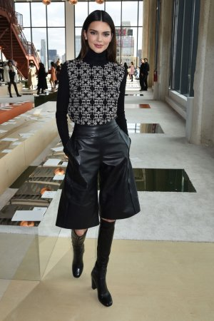 Kendall Jenner attends the LONGCHAMP Fall/Winter 2020 Runway Show
