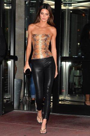 Kendall Jenner leaves dinner at Milos