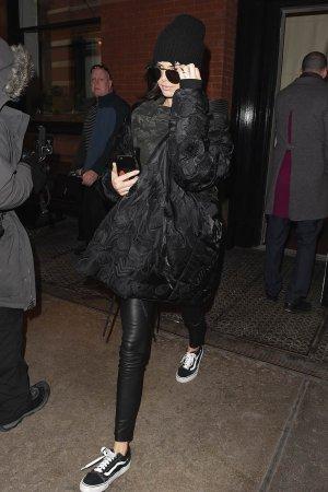 Kendall Jenner leaves Kim Kardashian's apartment