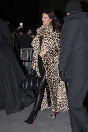 Kendall Jenner out for dinner in Paris