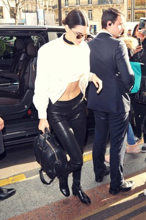 Kendall Jenner seen arriving at her hotel