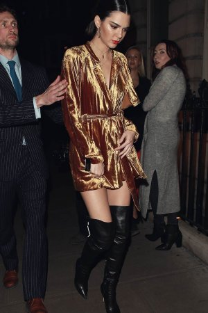 Kendall Jenner seen leaving Dover Street Market after the LOVE Magazine signing