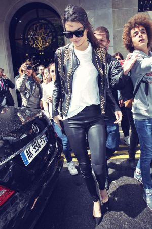 Kendall Jenner seen leaving the Four Seasons George V Hotel