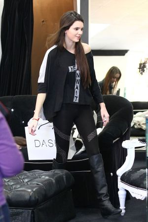 Kendall Jenner shopping at Dash in LA
