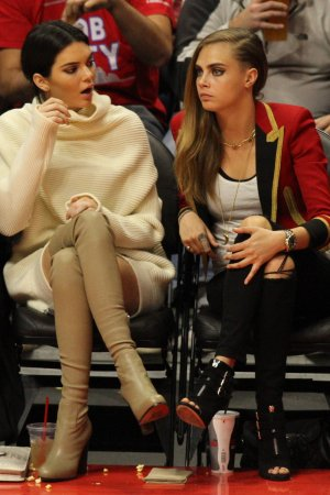 Kendall Jenner was seen enjoying the Lakers vs the Clippers