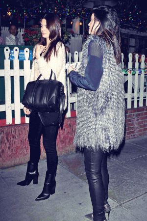 Kendall & Kylie Jenner Out for Dinner at The Ivy