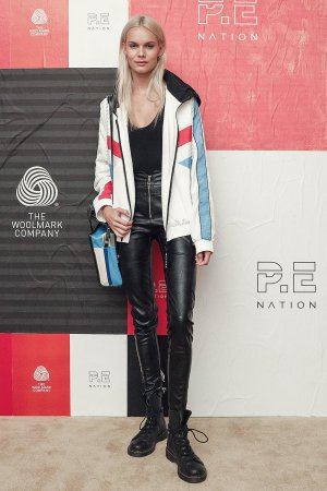 Kendall Visser & Olivia Perez attend P.E Nation X Woolmark dinner