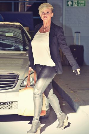 Kerry Katona seen at ITV studios