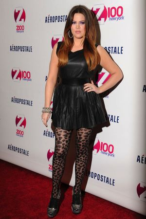 Khloe Kardashian  in the press room during Z100's Jingle Ball 2011