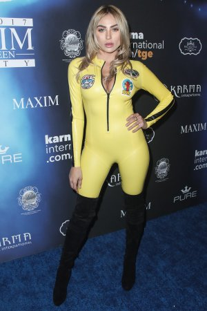 Khloe Terae attends the 2017 Maxim Halloween Party