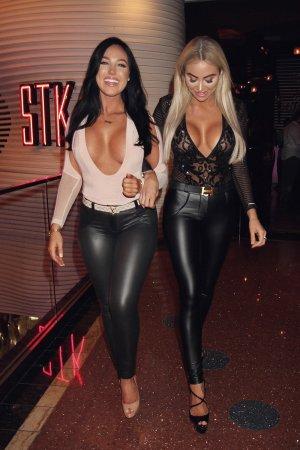 Khloe Terae & Holly Bortolazzo at STK Las Vegas