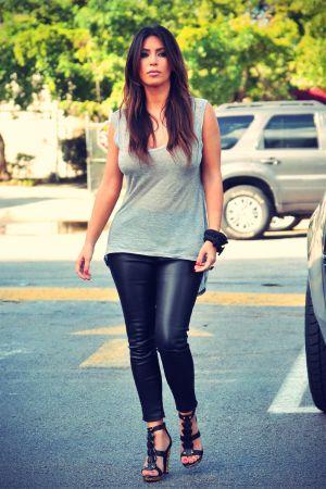 Kim and Khloe Kardashian grab a Cuban coffee in Miami