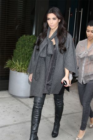 Kim and Kourtney Kardashian out and about in New York