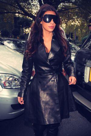 Kim Kardashian arrives at the Dorchester Hotel