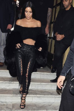 Kim Kardashian at Costes restaurant in Paris