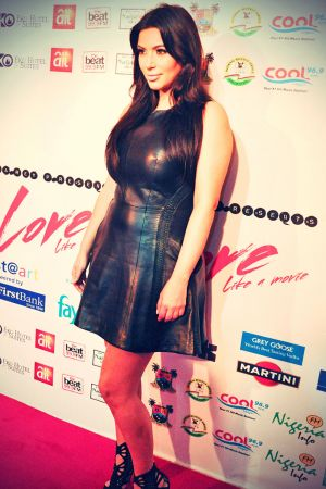 Kim Kardashian at Dareys Love Like a Movie concert
