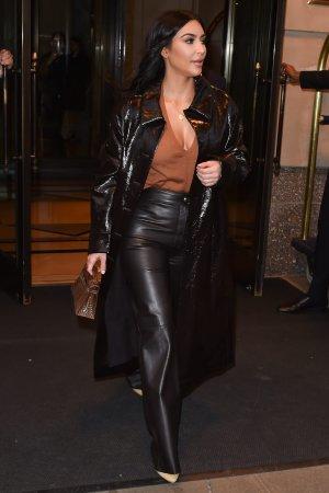 Kim Kardashian at her hotel