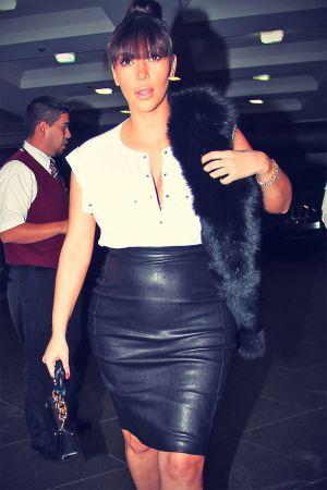 Kim Kardashian at Pastaio restaurant