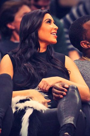 Kim Kardashian at the Denver Nuggets vs the Los Angeles Clippers game
